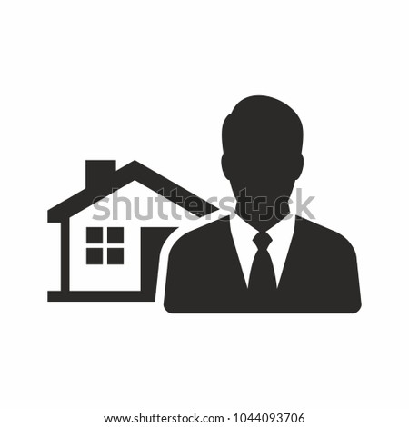Real estate agent icon