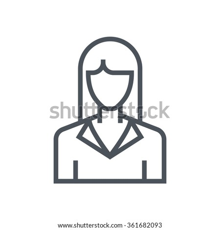 Real estate agent icon suitable for info graphics, websites and print media. Vector, flat icon, clip art.