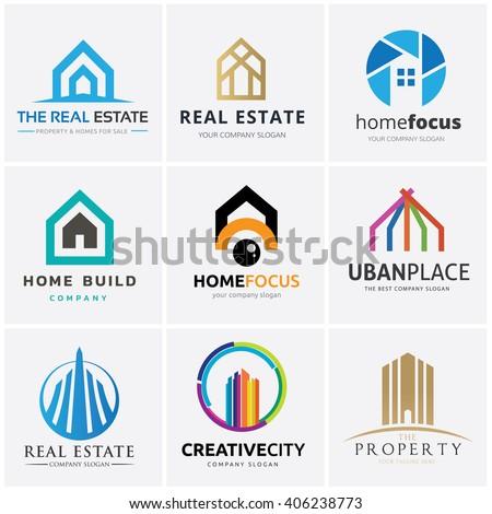 Real Estate and Building logo collection. Home logo,house logo,vector logo template