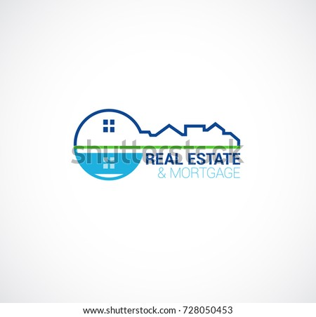 real estate and mortgage logo