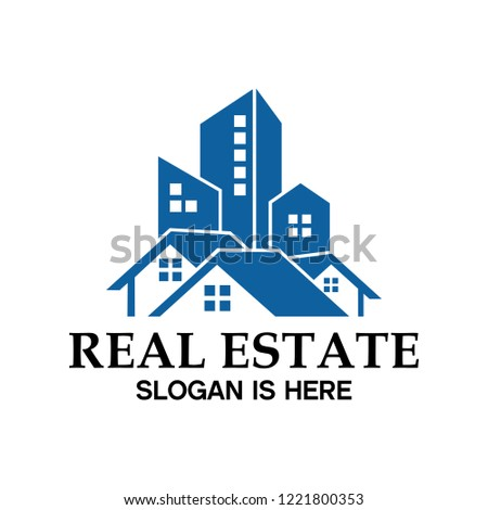 real estate and residential logos company This logo is used for residential, apartment, building  and condominium businesses