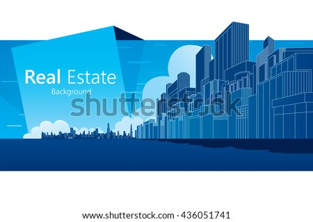 Real Estate background. Vector illustration