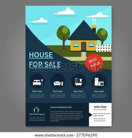 real estate broker flyer and