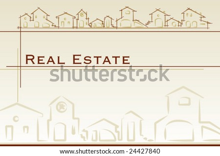 Real estate business card. Project card Template classic style - Vector illustration