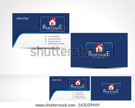 Real Estate Business Card vector illustration