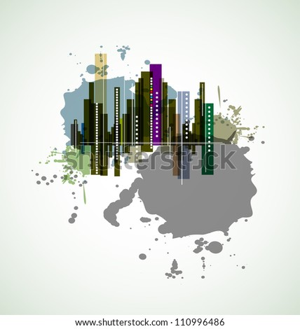 real estate city background
