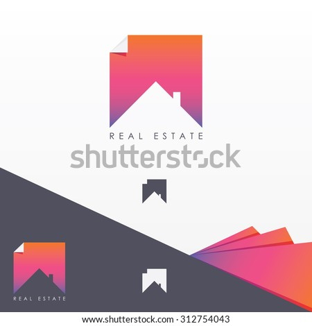 real estate colorful logo