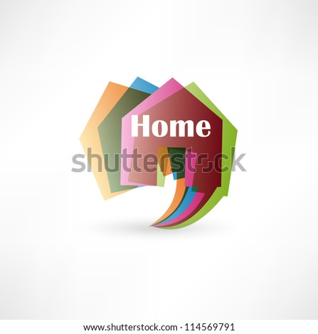 Real estate concept design element speech bubble