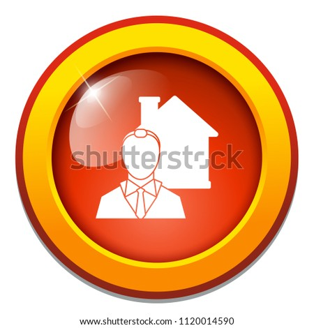 real estate concept. house agent, real estate investment sign - property manager symbol