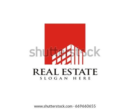 Real Estate Construction Building Logo Template