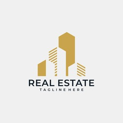 Real estate construction house vector logo design graphic line set. Logo can be used for icon, brand, identity, home, architecture, apartment, building, and business company