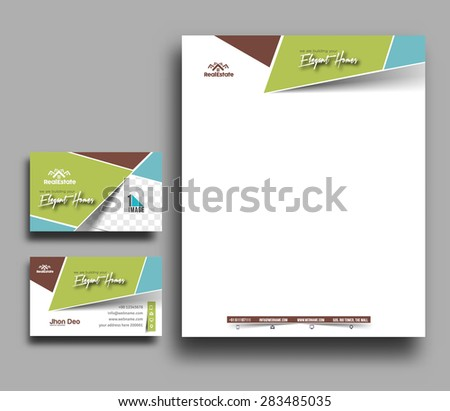 Letter Head Design Business Cards Corporate Identity Stationery ...