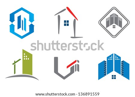 Real estate design elements for logo designing