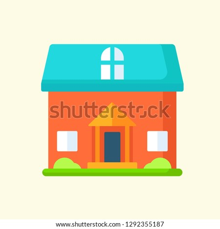 Real Estate Flat Icon Vector Graphic Download Template Modern