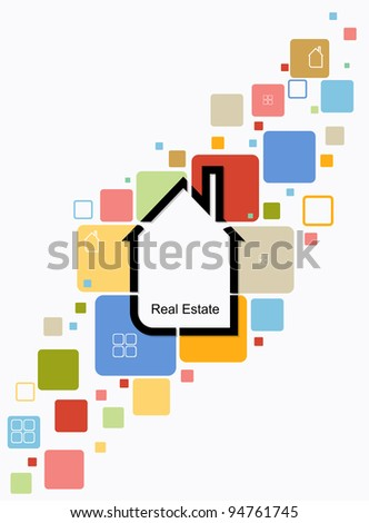 real estate house background vector