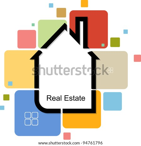 real estate house from color cards