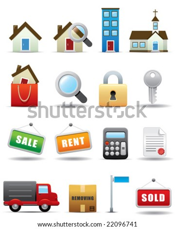 Real Estate Icon Set -- Premium Series