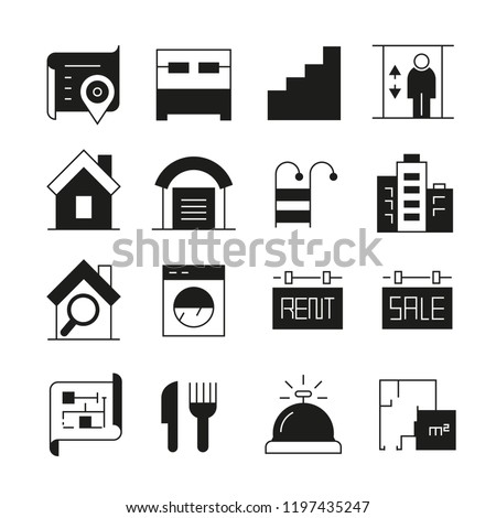 real estate icons #1197435247