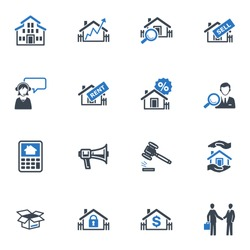 Real Estate Icons - Blue Series