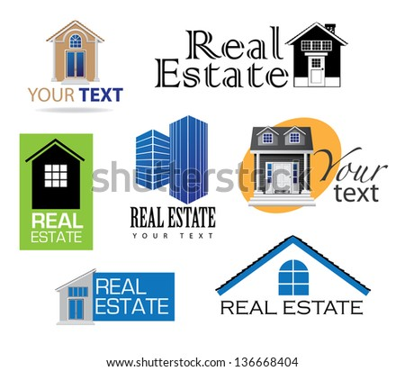 Real Estate Icons. EPS 10 vector, grouped for ays editing. No open shapes or paths.