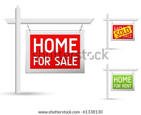 real estate icons set Foto stock ©