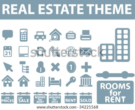 real estate icons. vector