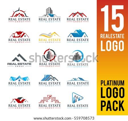 real estate logo pack 15 set