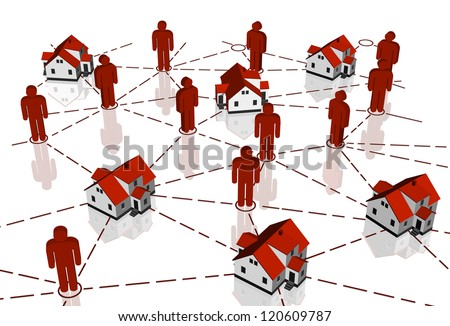 Real Estate Market, red house network