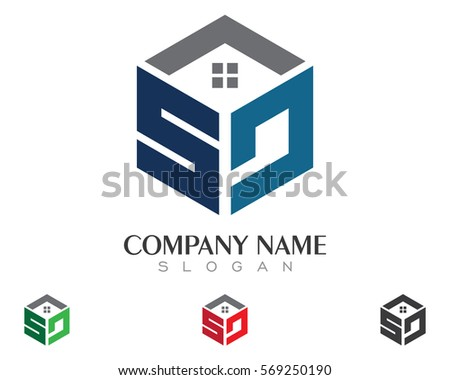 Real Estate , Property and Construction Logo design for business corporate sign . Vector Logo .