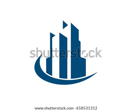 Real Estate, Property and Construction Logo design for business corporate sign. Vector Logo