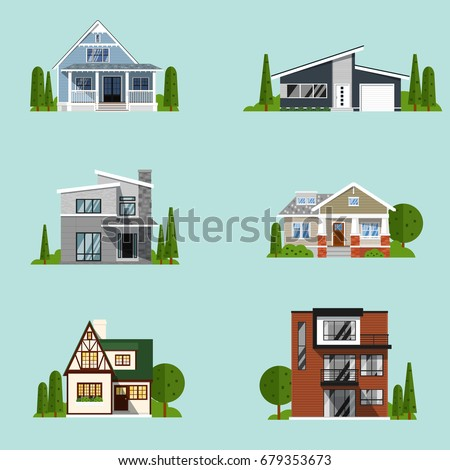 real estate set with sale