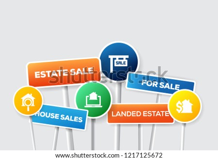 REAL ESTATE SIGNBOARD CONCEPT #1217125672