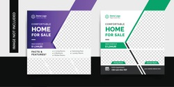 real estate social media template, social media banner, web banner, facebook ads