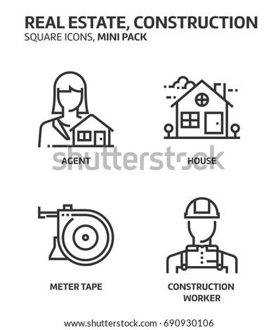 real estate  square mini icon