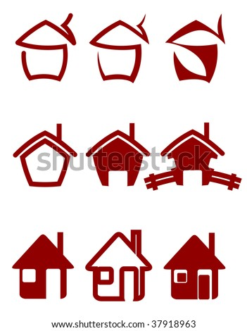 Real estate symbols for design and decorate - abstract emblem or logo template. Jpeg version also available