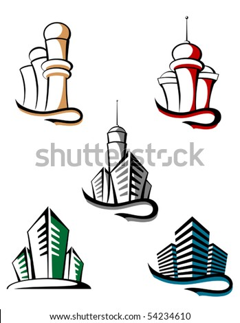 Real estate symbols for design and decorate or logo template. Jpeg version also available
