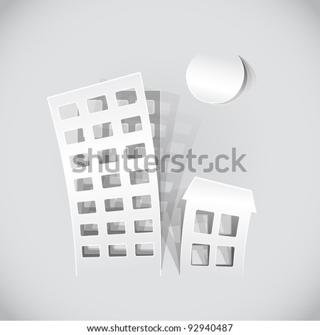 real estate symbols made of paper