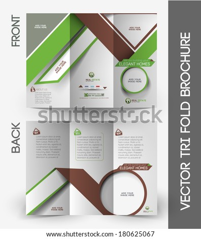 Real Estate Tri-Fold Mock up & Brochure Design