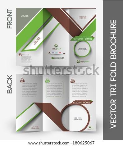 Real Estate Tri-Fold Mock up & Brochure Design