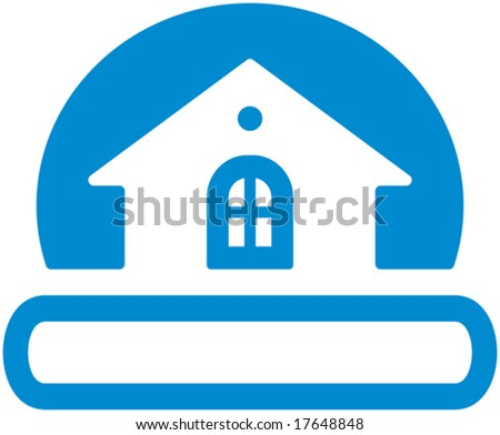free real estate logo vector. stock vector : Real estate