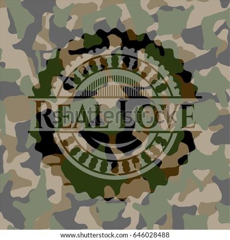 real love camouflage emblem