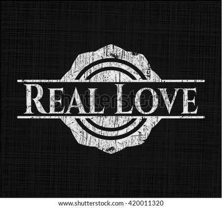 Real Love chalk emblem