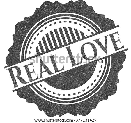 Real Love pencil emblem