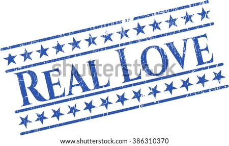 Real Love rubber stamp