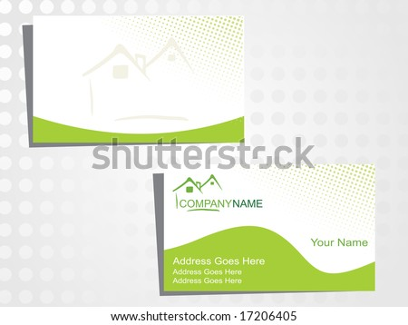 real state business card with logo