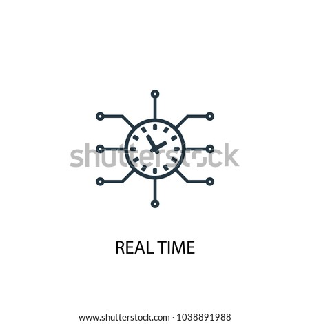 Real time icon. Simple element illustration. Real time concept symbol design from Augmented reality collection. Can be used for web and mobile.