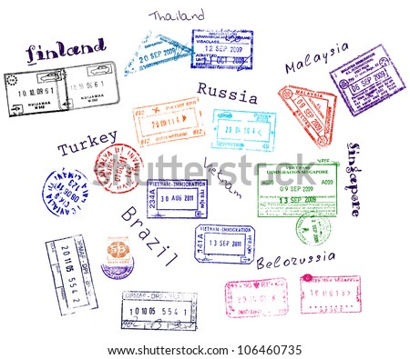 real visa stamps from 9