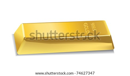 realictick vector gold bar in tte white background