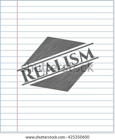 Realism pencil emblem