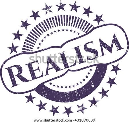 Realism rubber grunge texture stamp
